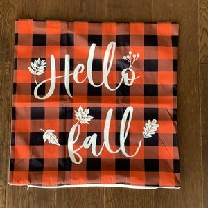 New! Hello Fall Pillow Cover
